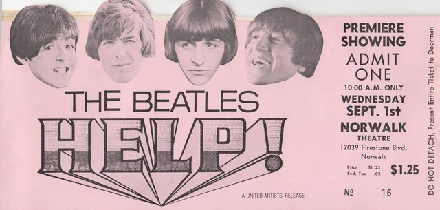 "Premiere of The Beatles ""Help!"""