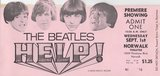 "<p>This is my ticket to the premiere of The Beatles second movie ""Help!"" at the Norwalk Theatre in 1965.  I was the 16th person in line.  What great memories.  I loved their cartoon fests.  I was living in Pico Rivera at the time.</p>"