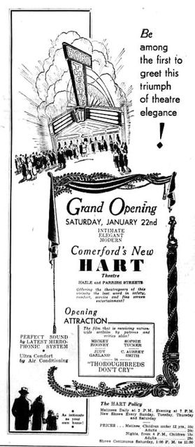 January 16th, 1938 grand opening ad
