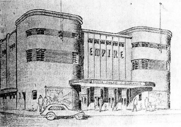 Drawing of The Empire Ciema Widnes