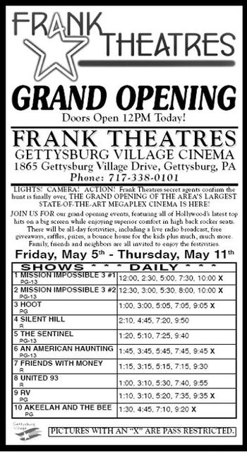 May 5th, 2006 grand opening ad