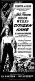 """Citizen Kane"" opens at the El Capitan"