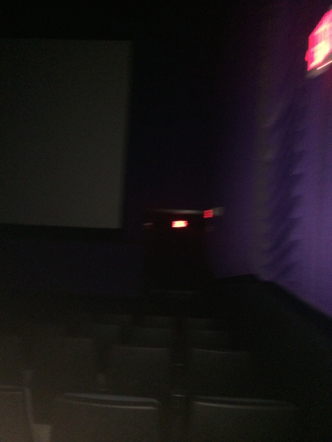 Pitch Black Theater with no lights on