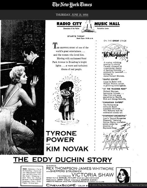 THE EDDY DUCHIN STORY PREMIERE