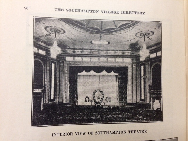 1935 view of the original auditorium