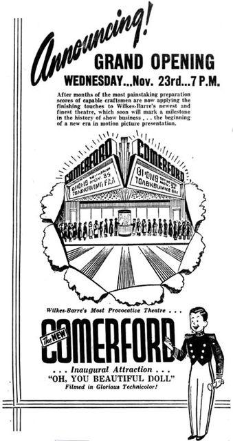 November 20th, 1949 grand opening ad