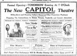 October 11th, 1920 grand opening ad as Capitol.