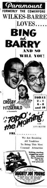 September 4th, 1949 reopening as Paramount
