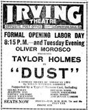 September 2nd, 1923 grand opening ad