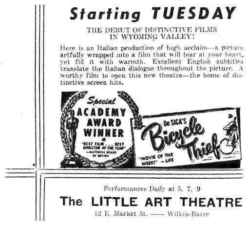 October 3rd, 1950 grand opening as Little Art