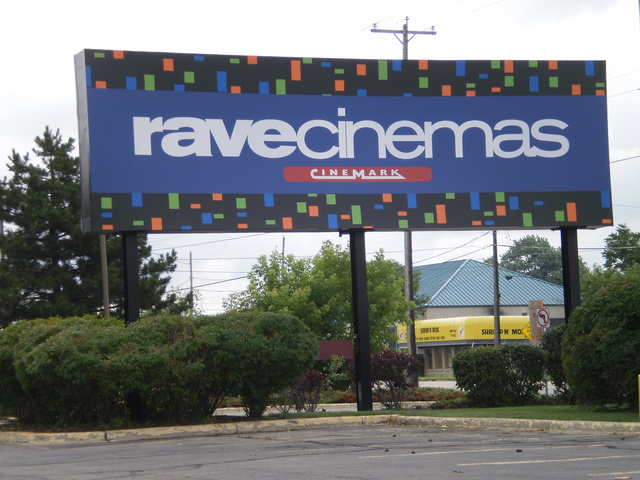 Rave Cinemas sign today (2014)
