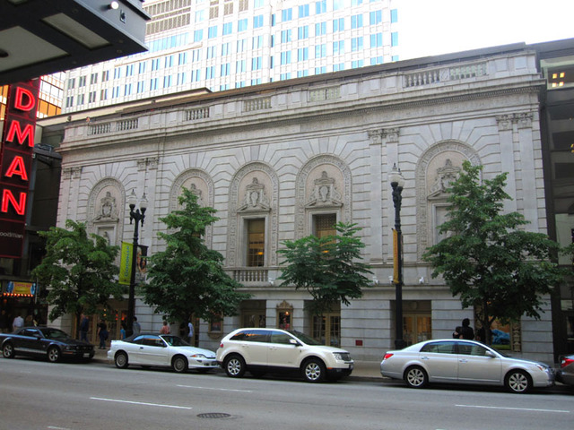 Harris Theatre (Chicago) - Front Facade