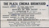 Plaza Cinema Advert