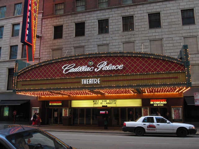 cadillac palace theatre chicago marquee cinema treasures. Cars Review. Best American Auto & Cars Review