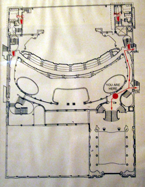 Chicago Theatre - Floor Plan of Lower Balcony Level