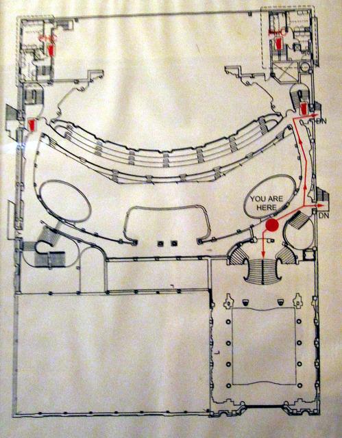 Chicago Theatre - Floor Plan of Lower Balcony Level