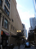 Chicago theatre - Left side of stagehouse and auditorium - exterior