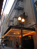 Chicago Theatre - Exterior - left side of building