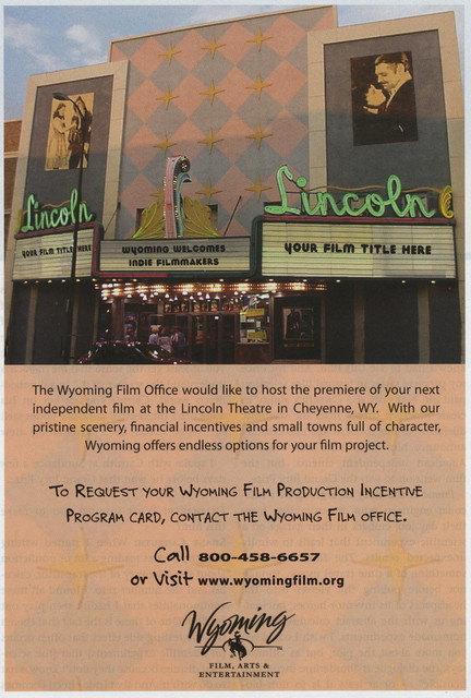 Wyoming ad featuring the Theatre