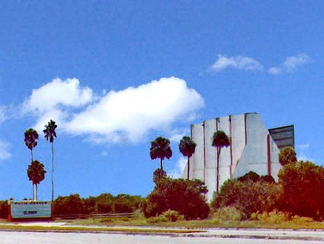 Movie Garden Drive In Theatre, after closing in the early 1980s