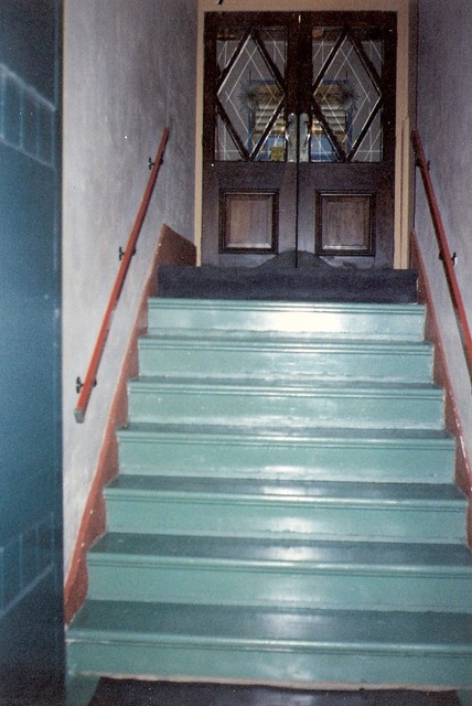 Stairs from street to foyer.