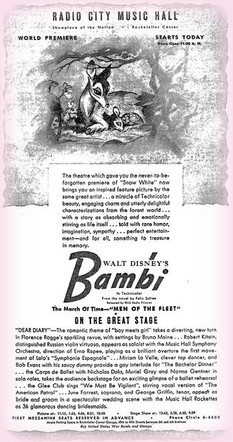 Bambi opens at RCMH