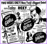 Milton Berle and Dagmar at the Roxy