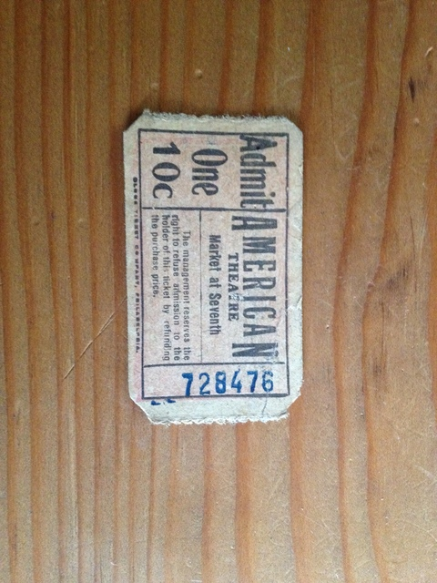 American Ticket stub 10c