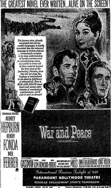 War and Peace at the Hollywood Paramount