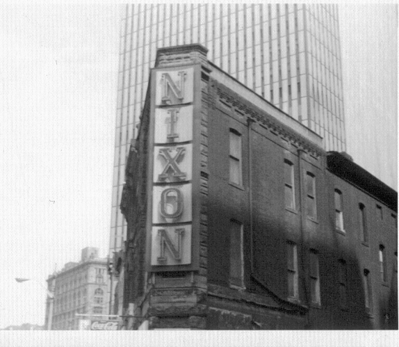 Nixon Theatre sign