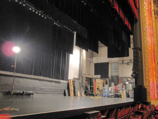 Chicago Theatre - View of stage showing the stage left wing