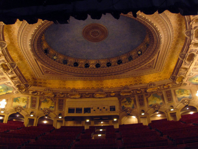 Chicago Theatre - Auditorium Ceiling From Stage