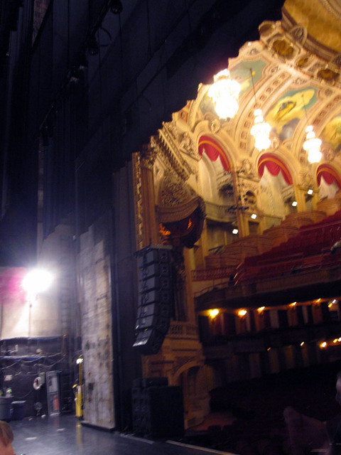 Chicago Theatre - View of auditorium and stage wing