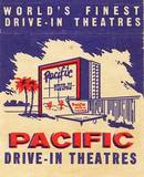 Pacific Drive-In print ad or matchbook cover.