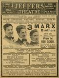 "<p>Original print ad for the Jeffers courtesy of Mike Flores. According to two Marx Bros. forums, the show was originally titled ""Fun In Hi Skule"".</p>"