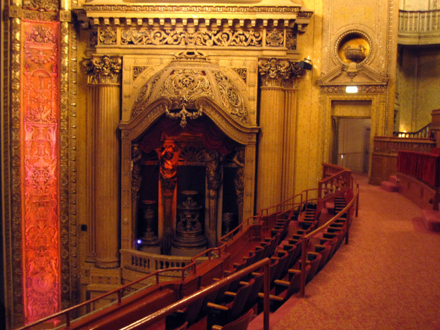 Chicago Theatre - Right organ screen