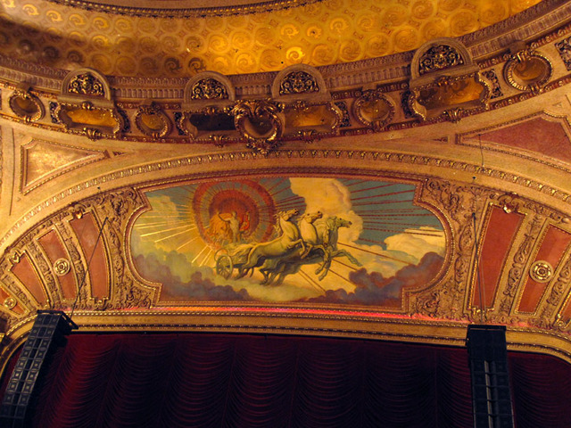 Chicago Theatre - Upper proscenium with mural