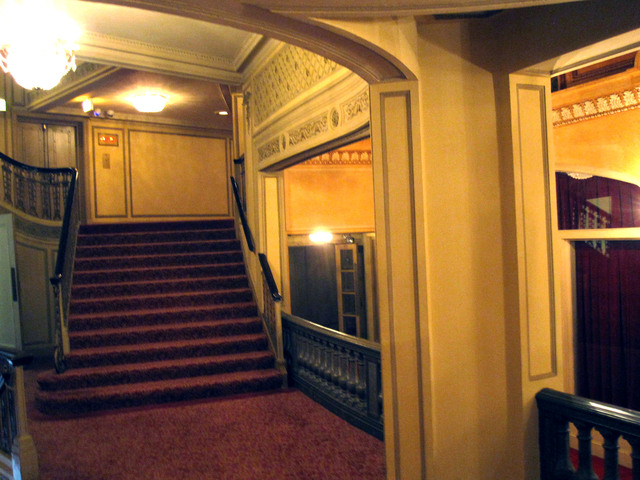 Chicago Theatre - Stairway to lower balcony