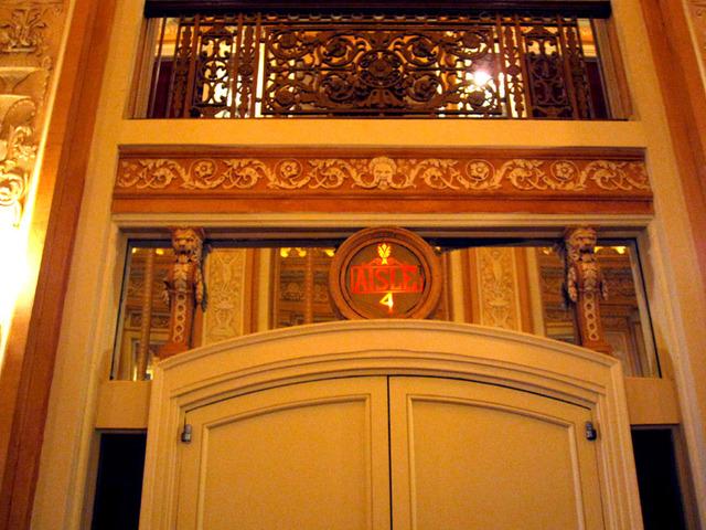 Chicago Theatre - Door from foyer to auditorium