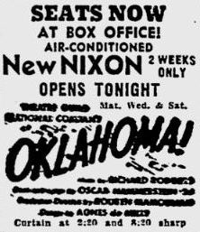 September 4th, 1950 opening as Nixon
