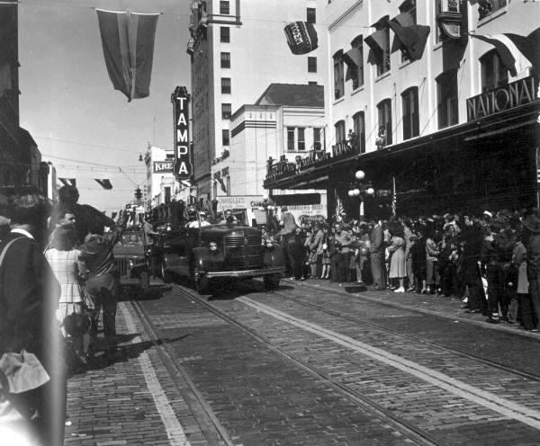 Franklin & Zack, 1947, Gasparilla parade.