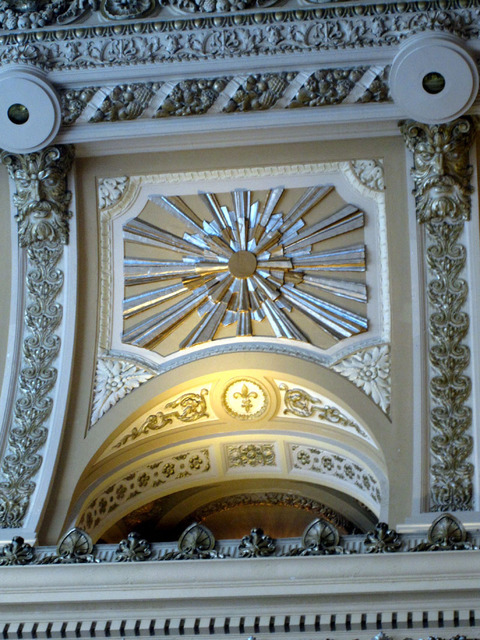Chicago Theatre - Detail of grand lobby ceiling