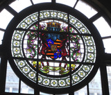 Chicago Theatre - Stained glass window above main entrance