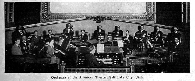 American Theatre Orchestra, Salt Lake City, UT, 1913.