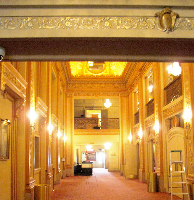 Chicago Theatre - Main Foyer looking towards secondary entrance