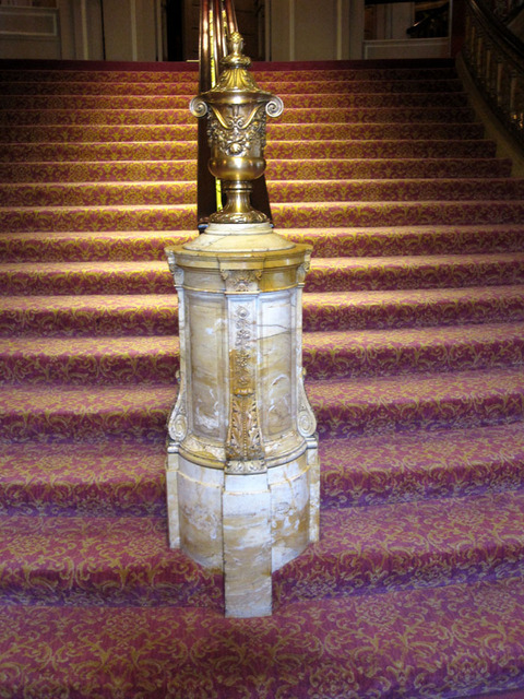 Chicago Theatre - Detail of grand lobby handrail