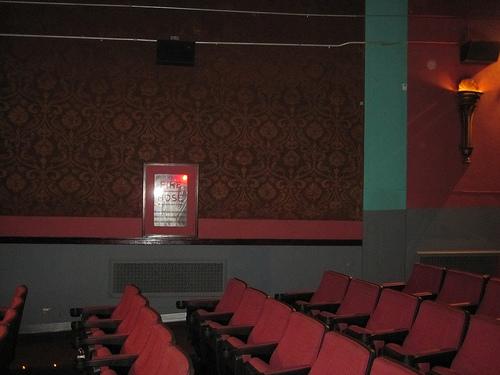This theater looks dark inside