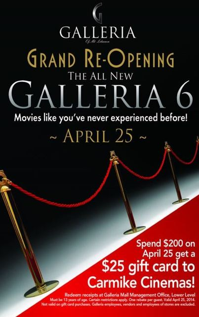 April 25th, 2014 grand reopening ad