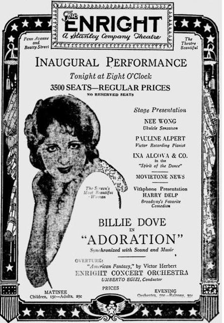 December 28th, 1928 grand opening ad