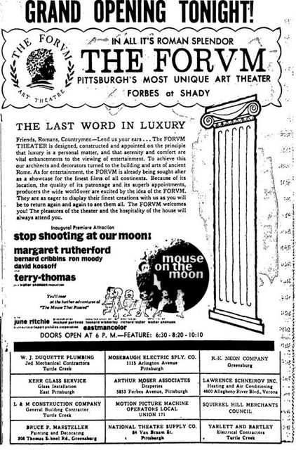 July 17th, 1963 grand opening ad
